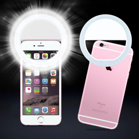 HAWK LED Selfie Ring Fill Light for iPhone 6 series, iPad. Samsung Galaxy S Series, Blackberry, Motorola and other Smart Phones - Qtopdeals - 1