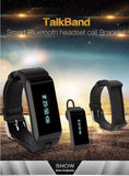 Latest 2016 Hawk - Smart K2 Bluetooth Dual Sleep Monitor Talk Band Wristband Bracelet with headset. - Qtopdeals - 8