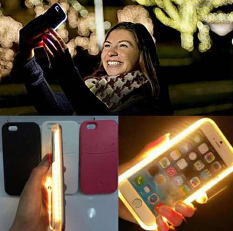 Luxury Selfie LED phone case for iPhone smart phone cover - Qtopdeals - 1