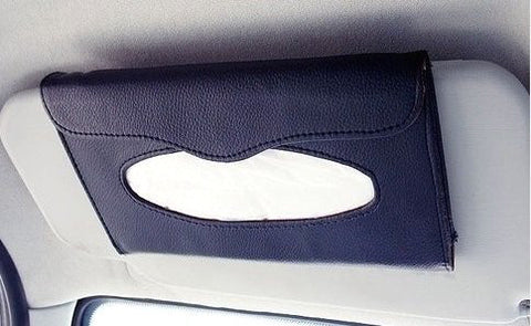 Premium Quality Car Tissue Holder - Leather Style