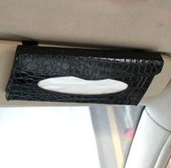 Premium Quality Car Tissue Holder - Crocodile Leather Style