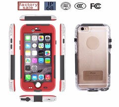 Latest 2017 HAWK - Waterproof - Shockproof Dust Proof - Snow Proof Full Body Protective Case Cover for Apple iPhone 6 / 6s and 6 Plus / 6s Plus – 6 Months Warranty