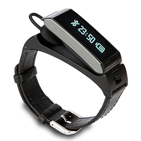 K2 Bluetooth Dual Sleep Monitor Talk Band Wristband Bracelet with headset.