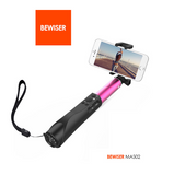 New design selfie stick with Bluetooth shutter button stick self stikboxs for iPhone 6 6s plus and Samsung with Power Bank  - Qtopdeals - 3