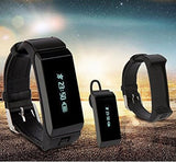 Latest 2016 Hawk - Smart K2 Bluetooth Dual Sleep Monitor Talk Band Wristband Bracelet with headset. - Qtopdeals - 2