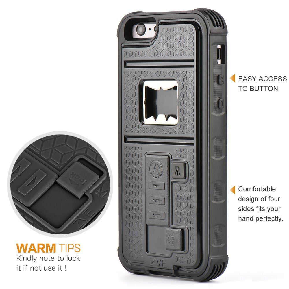 2016 Latest iPhone 6 / 6s Case with Cigarette Lighter Cover and Bottle Opener