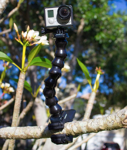 Sametop Jaws Flex Clamp Mount with Adjustable Gooseneck for Go Pro