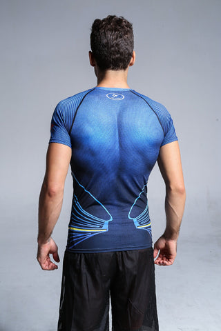 Super Heros Men Compression Fitness / Casual 3D T-Shirt