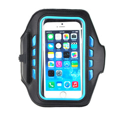 PVC Touch-screen running armband with LED and Earphone Jack