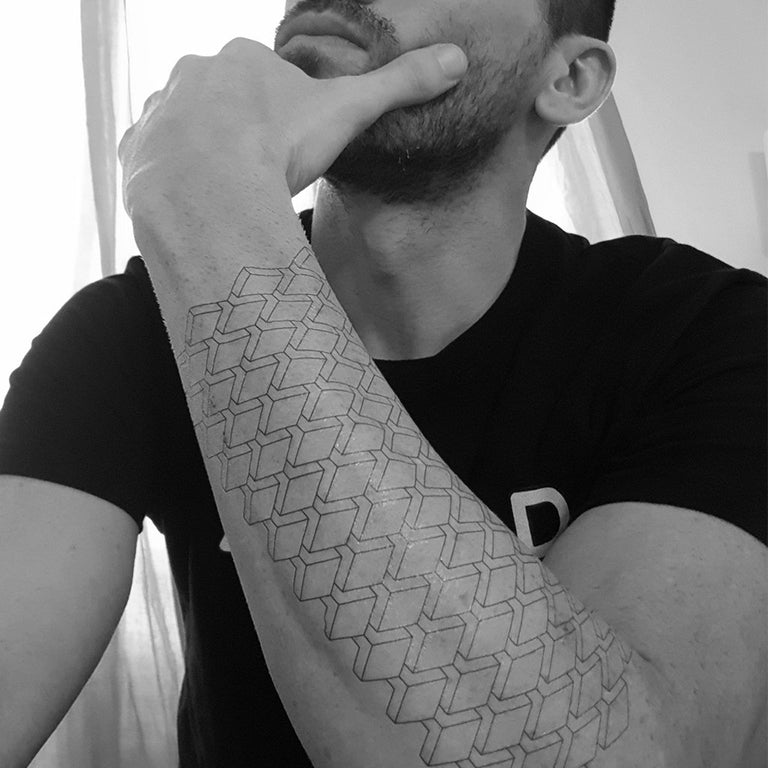 Temporary tattoo - Geometric 3D Design 2 - ArtWear Tattoo - Fake tattoo