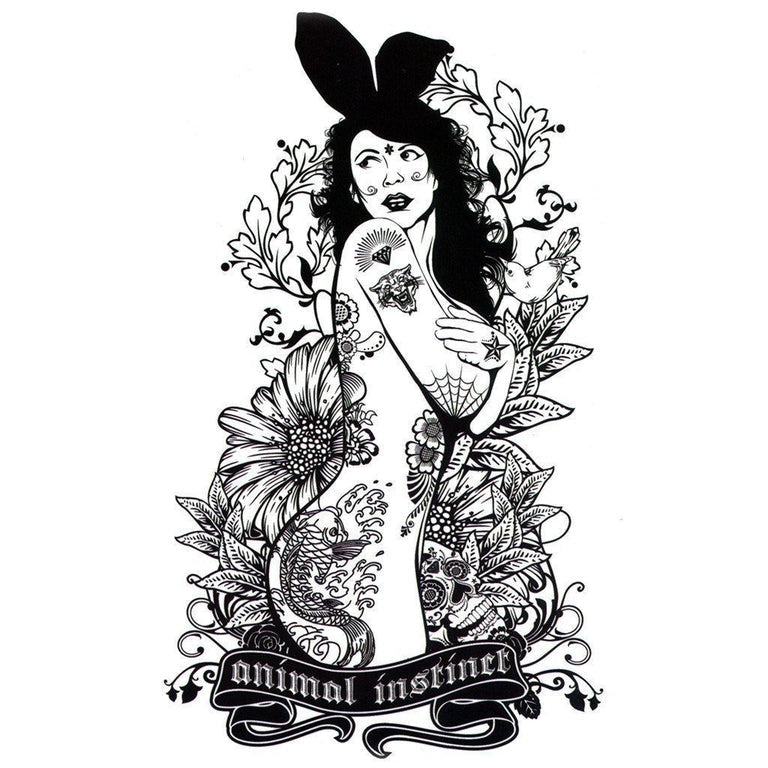 Temporary tattoo - Bunny Babe - ArtWear Tattoo - Fake tattoo