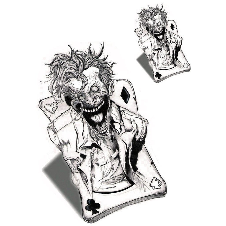 Temporary tattoo - Joker - Pack - ArtWear Tattoo - Fake tattoo