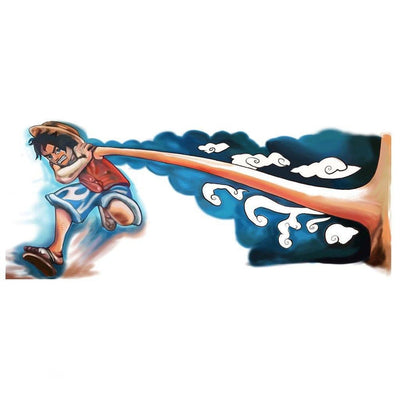 Temporary tattoo - Luffy 3D - Pack - ArtWear Tattoo - Fake tattoo