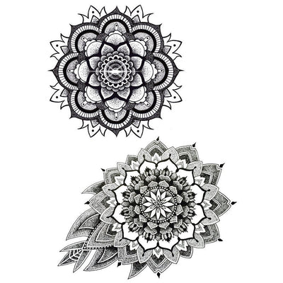 Temporary tattoo - Mandala V1 - Pack - ArtWear Tattoo - Fake tattoo