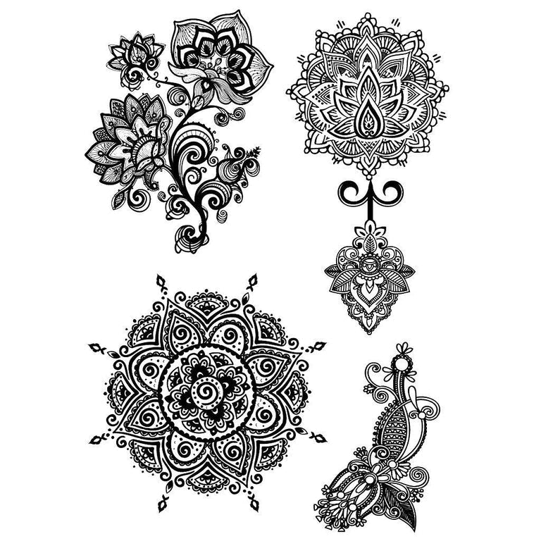 Temporary tattoo - Sacred Mandalas - Pack - ArtWear Tattoo - Fake tattoo