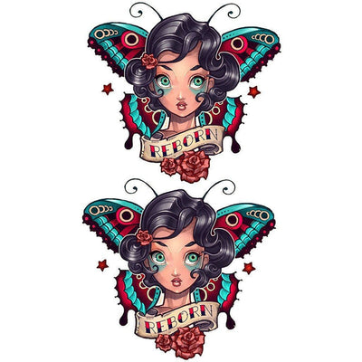Temporary tattoo - Butterfly Woman - Pack - ArtWear Tattoo - Fake tattoo