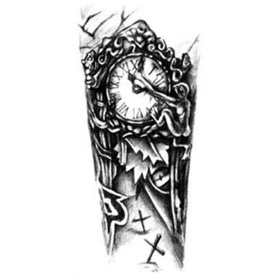 Temporary tattoo - Clock Arm - ArtWear Tattoo - Fake tattoo