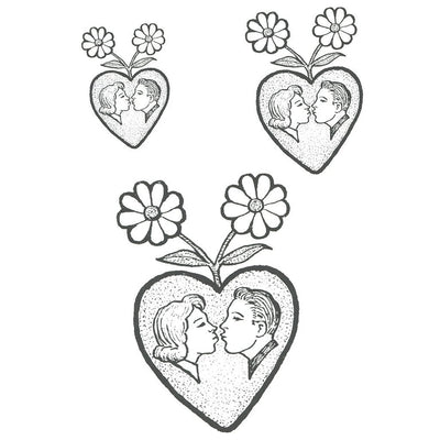 Temporary tattoo - Couple in a Heart - ArtWear Tattoo - Fake tattoo