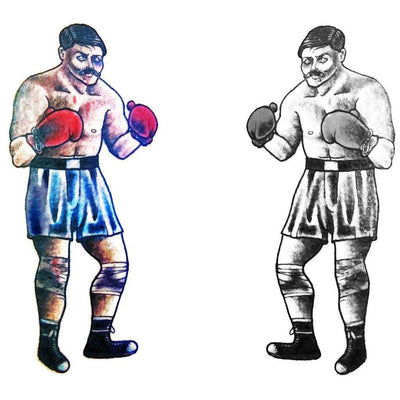Temporary tattoo - Vintage Boxer - Pack - ArtWear Tattoo - Fake tattoo