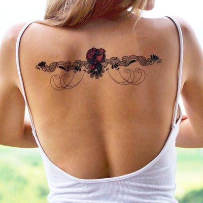 Temporary tattoo - Rose Lace Underboob - ArtWear Tattoo - Fake tattoo