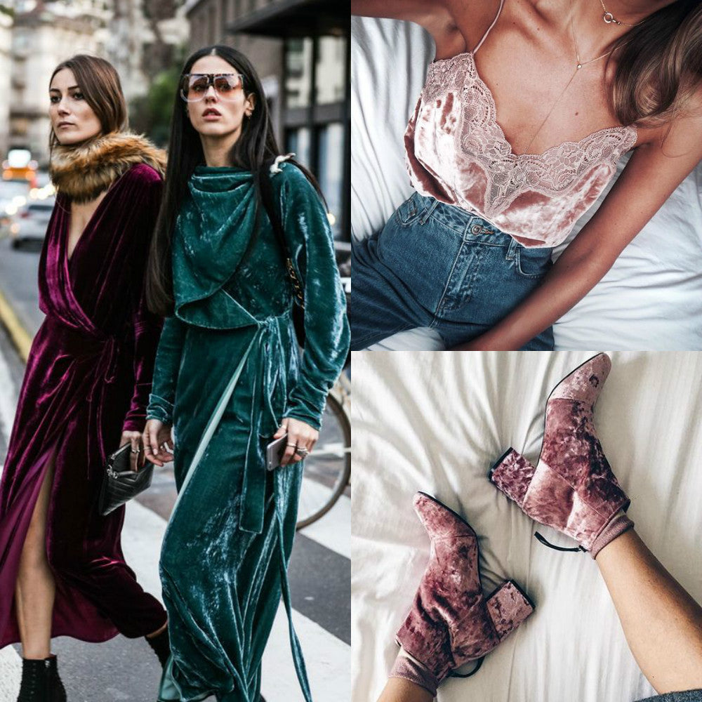 30+Details Show You How To Wear Velvet Pieces In Fashion Outfits All The Time