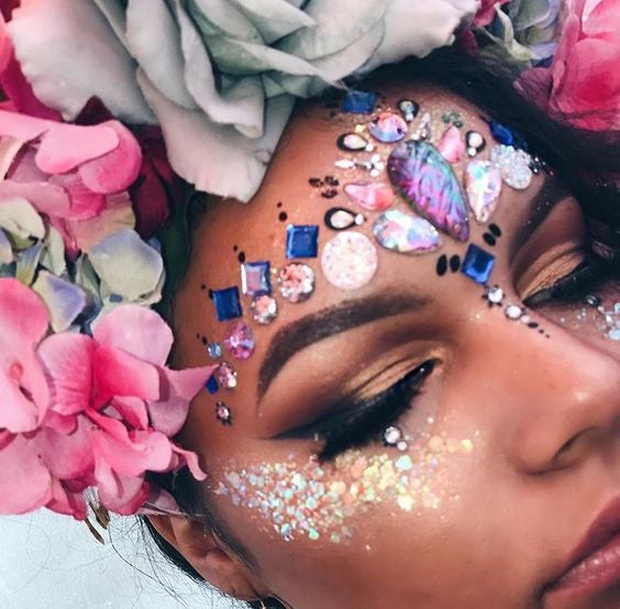 Be Modern Gypsy:How to Wear Face Gem Makeup Every Occasion