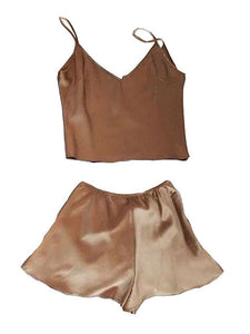 Silky Cami Casual Shorts 2 Piece Set - Lupsona