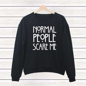 NORMAL PEOPLE SCARE ME Cool mikina - Lupsona