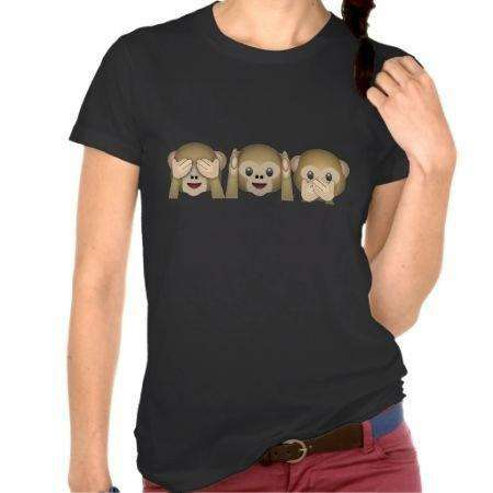 T-shirt casual Emoji Monkey - Lupsona