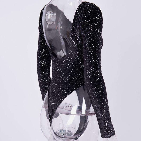 Sparkle Backless Slim Bodysuit