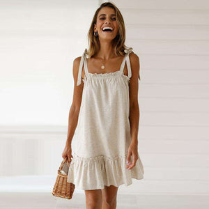 strappy stringy selvedge loose dress - Lupsona