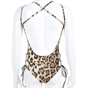 backless side criss-cross leopardin kehys - Lupsona