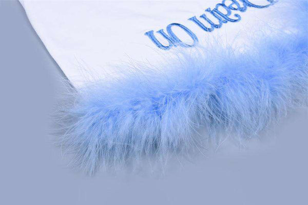 Parte superiore del ricamo con lettere furry color patch - Lupsona