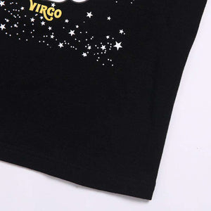 tricou casual leo & virgo constelation - Lupsona