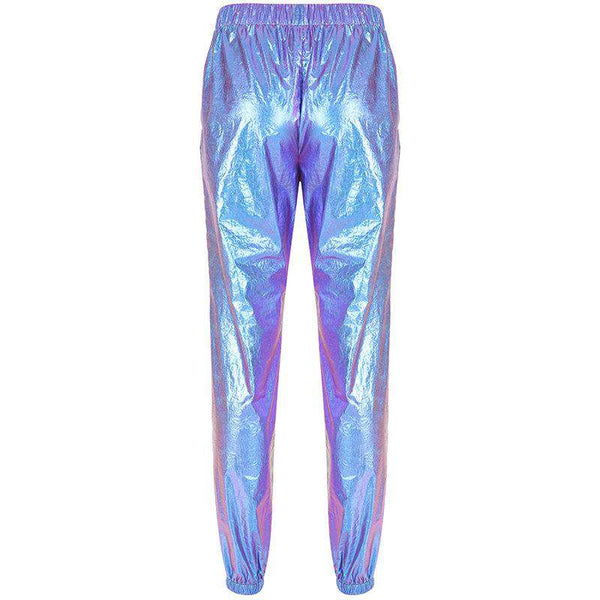 cool hip-hop dye laser casual pants - Lupsona