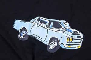 car printed with chain loose t-shirt - Lupsona