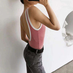 rob barve patch backless slim top - Lupsona