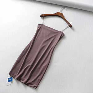 basic strappy solid color bodycon mini dress - Lupsona