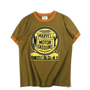 printed locomotive element man's t-shirt - Lupsona