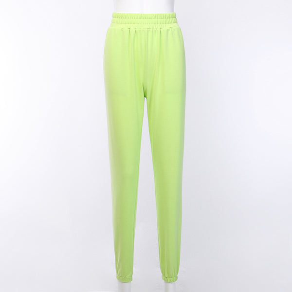 neon color casual jogger pants