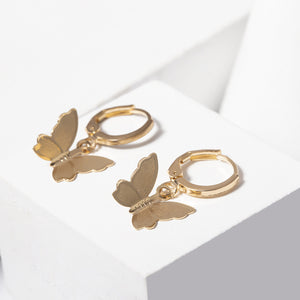 cute 3D butterfly dangle boho earrings set - Lupsona