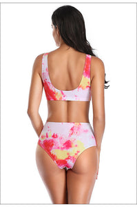 new fashion tie-dye 2 pieces bikini set swimwear - Lupsona