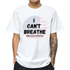 'I can't breathe' printed protest men t-shirt - Lupsona