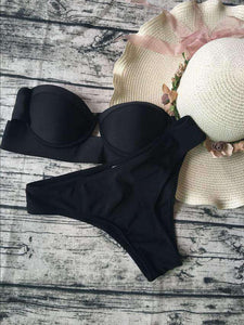 Strapless 2 Pieces Bikini Set - Lupsona