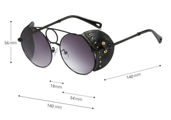 Steam Punk Metallic Niet Sonnenbrille