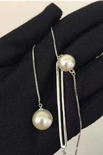 Pearls Pendant Simple Chic Y-type Necklace