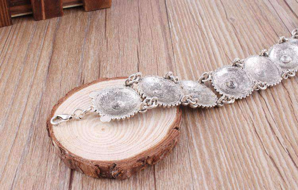 Boho Vintage Choker Layers Crescent Moon Necklaces Set - Lupsona