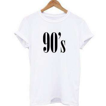 90's Street Hip-hop Cotton T-shirt - Lupsona