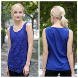 7 Colors Floral Lace Sleeveless Blouse - Lupsona