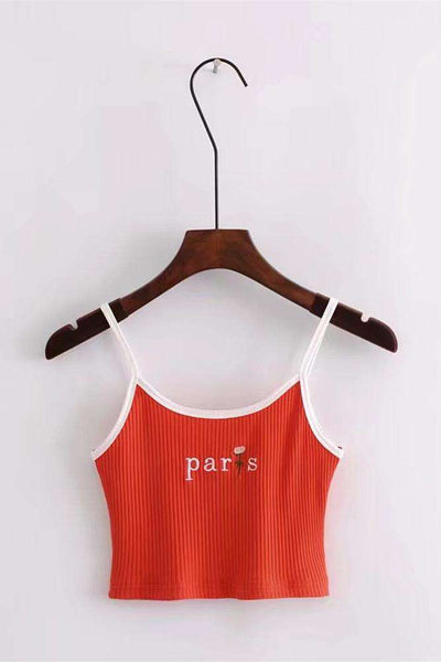 Paris Rose Vezenine Strappy Crop Top